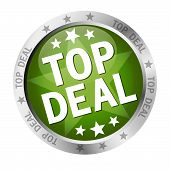 Button with banner and text Top Deal poster