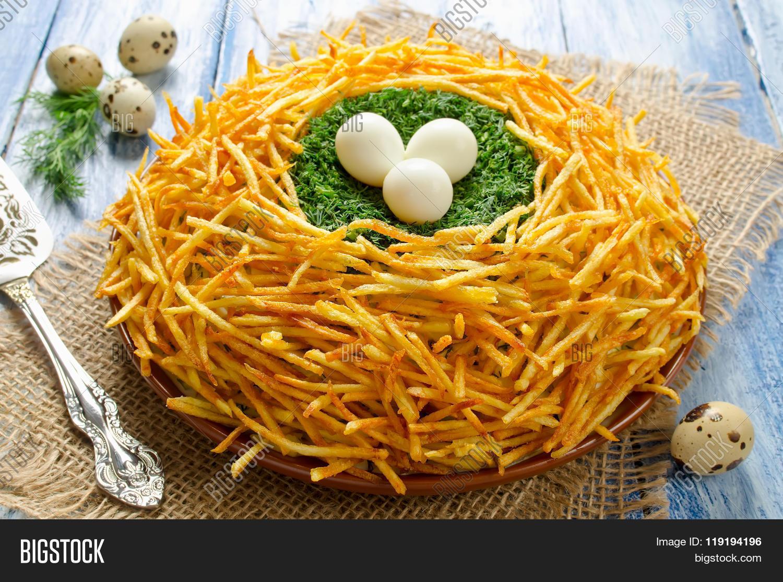 Салат гнездо рецепты с фото простые