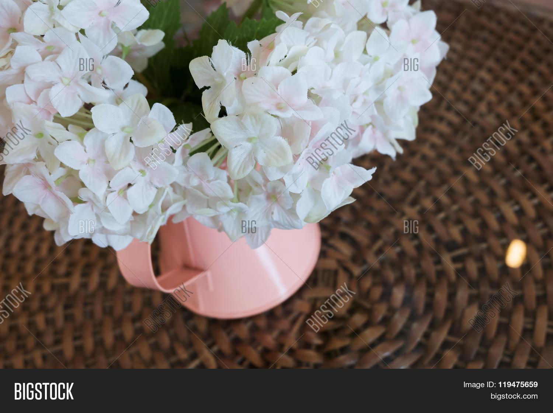 White Plastic Flowers Image Photo Free Trial Bigstock