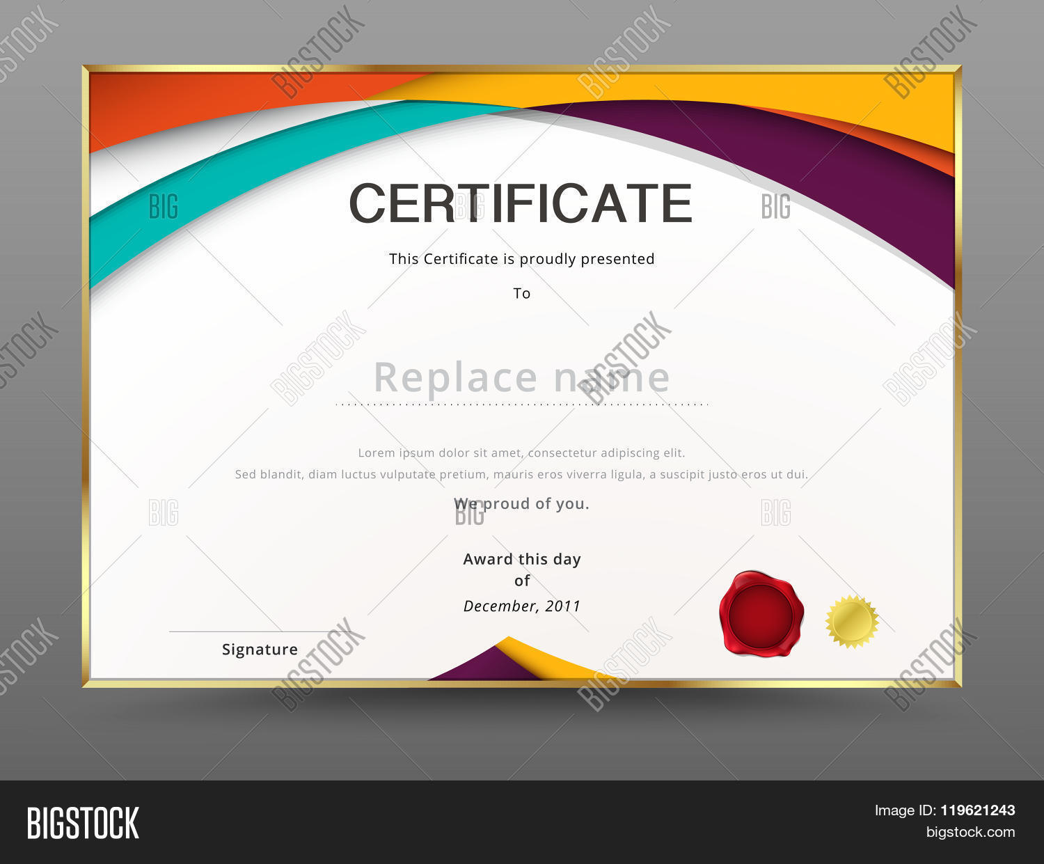 Abstract certificate template vector photo bigstock abstract certificate template diploma design vector stock 1betcityfo Image collections