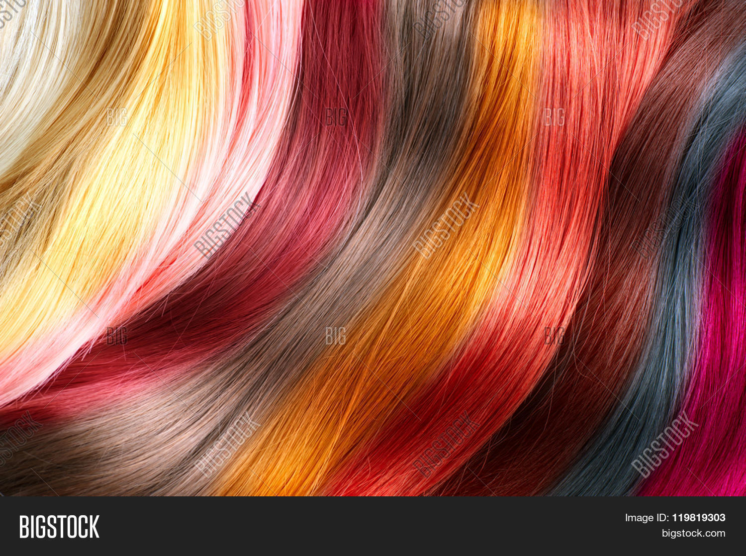 Hair Colors Palette Hair Texture Image Amp Photo Bigstock