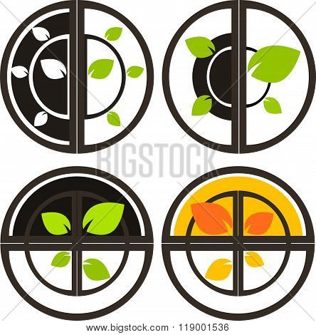 Nature tree symbol illustration