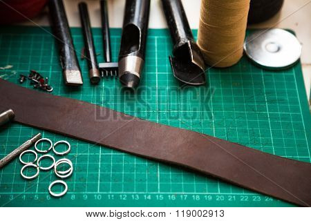 Leather Crafting Tools With Camera Strap