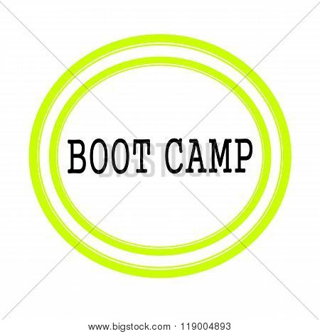 Boot Camp Black Stamp Text On White