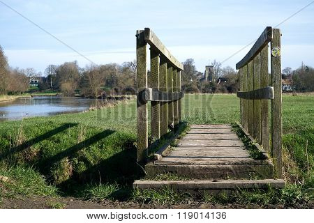 Wooden Footbridge, Fen Ditton, Cambridgeshire, England