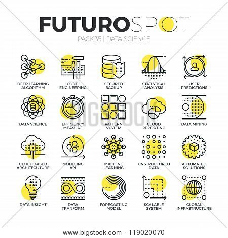 Data Science Futuro Spot Icons