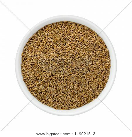 Cumin Seed In A Ceramic Bowl