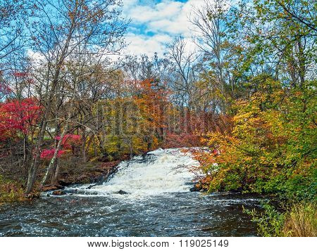 Stream Through Autumn Woods