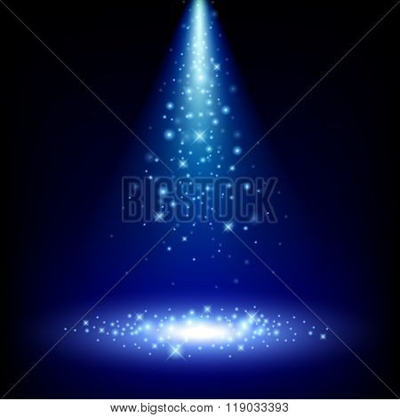 Colorful spotlight background vector illustration.