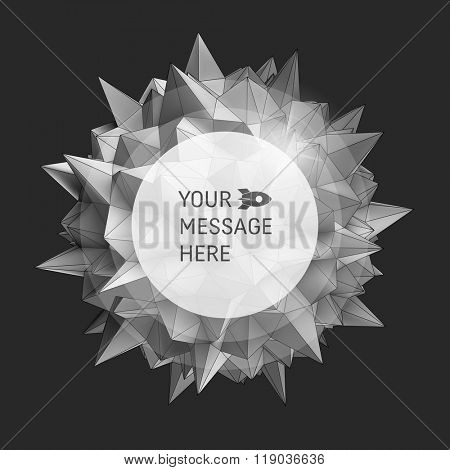3D vector illustration. Abstract background with Place for Text. Vector background.