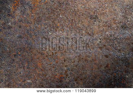 Rusty Old Brown Metal Texture.