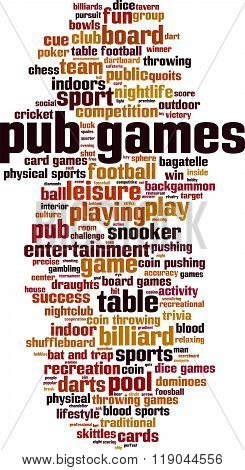 Pub Games Word Cloud