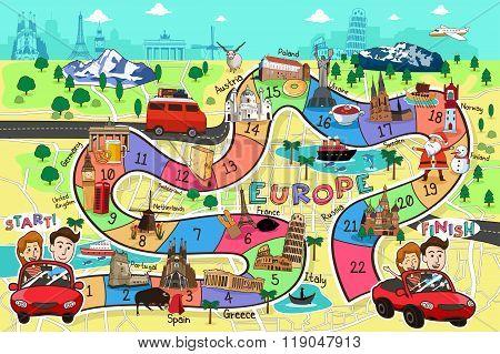 Travel Board Game Design