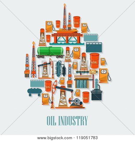 Working Oil Pumps and Drilling Rig, Oil Pump, Petroleum Industry.