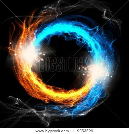 Fire and Ice, a round sign