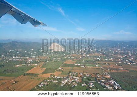 Aerial Green Ibiza Winter