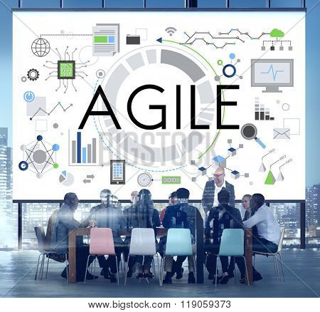 Agile Nimble Quick Innovation Reassessment Tech Concept