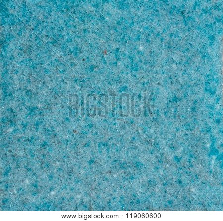 Macro Shot Of A Crackle Glaze Tile -  Turquoise