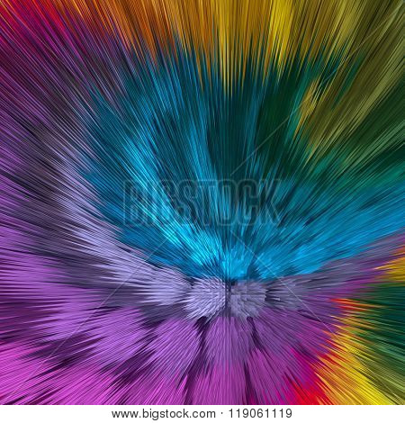 Artistic dynamic background of vibrant colors