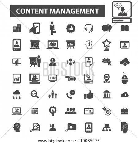 content management icons, content management logo, info icons vector, info flat illustration concept, info infographics elements isolated on white background, info logo, info symbols set, information