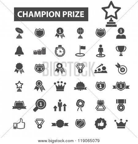 champion prize icons, champion prize logo, awards icons vector, awards flat illustration concept, awards infographics elements isolated on white background, awards  logo, awards symbols set, trophy