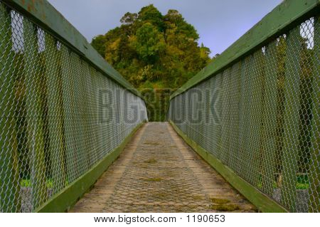 Crossing A Wire Bridge