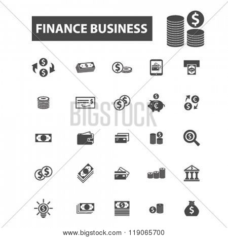 finance icons, finance logo, financial icons vector, financial flat illustration concept, financial infographics elements isolated on white background, financial logo, financial symbols set, business