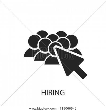 hiring icon, hiring logo, hiring icon vector, hiring illustration, hiring symbol, hiring isolated, hiring image, hiring drawing, hiring concept