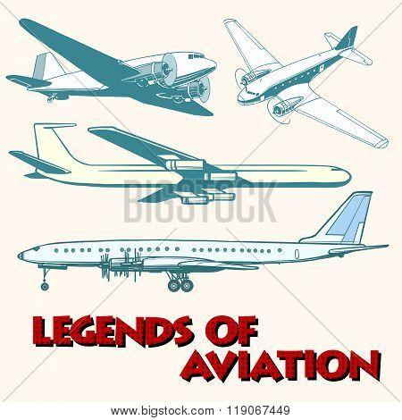 Set of abstract retro planes
