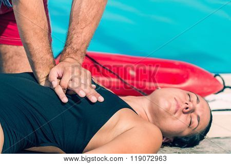 Lifeguard Doing Cpr