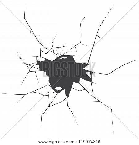 Vector Cracks. Cracked Earth.