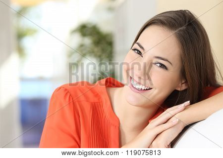 Beauty Woman With Perfect White Teeth And Smile