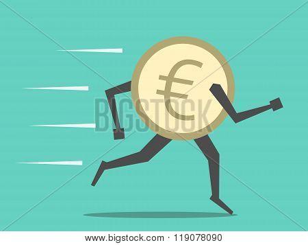Euro Coin Running