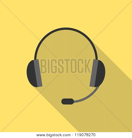 Headset With Long Shadow
