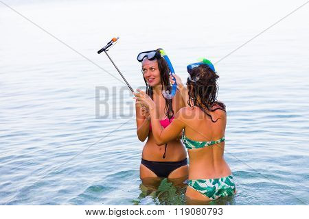Self Portrait With Snorkeling Equipment