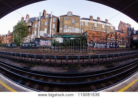 London, Uk - October 11 2013:west Hampstead Station  The Deepest Station Below Street Level Is Hamps