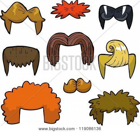 Cartoon Set Wigs