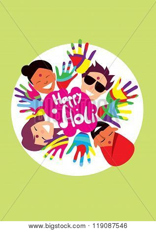 Holi background. Holi vector. Creative Flyer, Banner or Poster design of Traditional Indian festival Holi. Bengali New Year. Holi colorful illustration. Holi holiday. Holi celebration, Happy Holi.