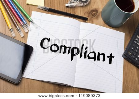 Compliant - Note Pad With Text