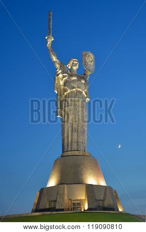 Motherland Monument In Kiev
