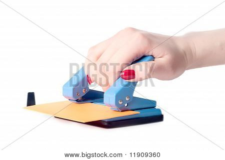 Woman Hand With Puncher