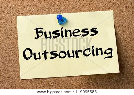 Business Outsourcing - Adhesive Label Pinned On Bulletin Board