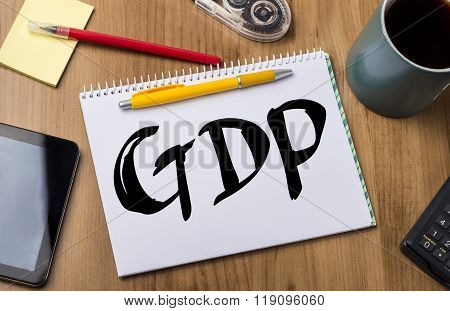 Gdp - Note Pad With Text