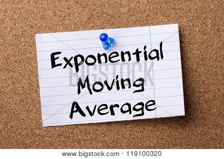 Exponential Moving Average Ema  - Teared Note Paper Pinned On Bulletin Board