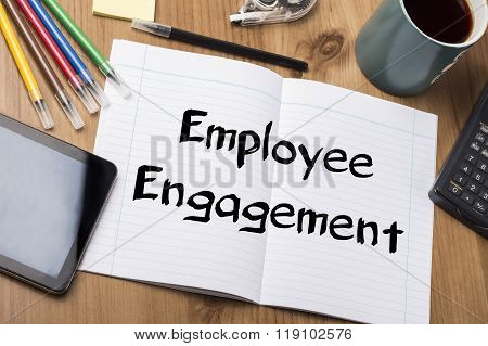 Employee Engagement - Note Pad With Text