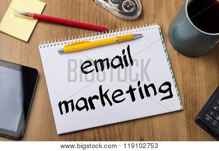 Email Marketing - Note Pad With Text
