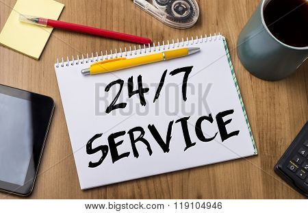24/7 Service - Note Pad With Text