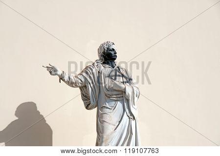 Vandalized Statue Of Rigas Velestinlis Feraios
