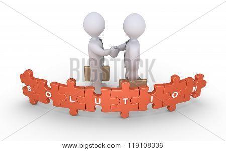 Businessmen Agreement For Solution