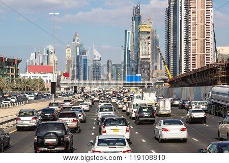 Traffic Jam In Dubai